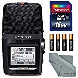 Zoom H2N Handy Recorder with Five Mic Capsules - Bundle With 16GB SDHC Card, 4 AA Batteries, Microfiber Cloth (Tamaño: Basic)