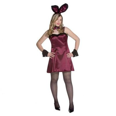 Rasta Imposta Adult Cocktail Hunny Burgundy Plus-Size Halloween Costume, Size 14-20