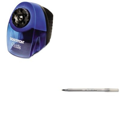 KITBICGSM11BKBOSEPS10HC - Value Kit - Stanley Bostitch Quiet Sharp 6 Commercial Desktop Electric Pencil Sharpener (BOSEPS10HC) and BIC Round Stic Ballpoint Stick Pen (BICGSM11BK) (Stanley Bostitch Quiet Sharp 6 compare prices)