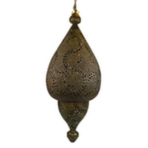 Swirl Pattern Tear Drop Lamp in Aged Patina Finish
