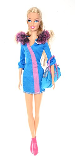 Banana Kong Doll's Winter Keep Warmer Style Blue Clothing Set+Accessaries - 1