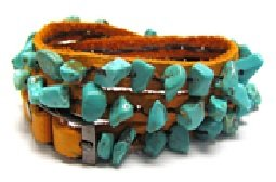 Wrap Around Turquoise and Suede Bracelet