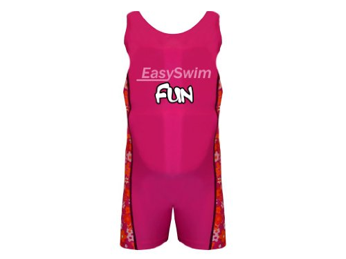 Safety Float Swim Suit for Girl EasySwim Swimming Costume Pink Small 3-4 yrs
