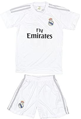 2015/2016 Real Madrid Home Kids Soccer Jersey & Short #10 James Rodriguez Youth Sizes