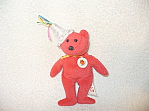 Ty Teanie Beanie Babies Red Bear McDonalds Happy Meal 25th (2004) - 1
