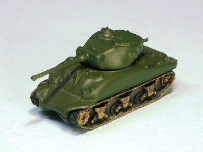 アメリカ軍 M4 シャーマン 中戦車 A1 型 単色迷彩(オリーブドラブ)