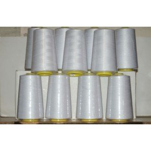 White Overlocking Sewing Machine Polyester Thread Four 5000 Yards Cones For £8.99 by Superstitch/Cometa