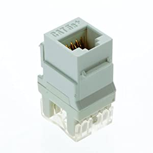 phone rj4 wiring datajack onq / legrand f3450whv5 rj45 data/phone jack white, 5pack ... phone jack wiring for second phone line #2