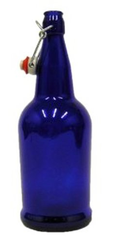Cobalt Blue EZ Cap Bottles-16 oz.-Case of 12-Caps Included (Grolsch Bottle Washer compare prices)