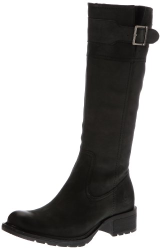 Timberland Womens Charles ST Tall Buckle Black Boots 8739R 9 UK, 43 EU