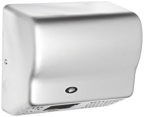 American Dryer Global Gx1-C Steel Cover Automatic Hand Dryer, 110-120V, 1,500W Power, 50/60Hz, Satin Chrome Finish