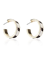 M&S Collection Animal Print Hoop Earrings
