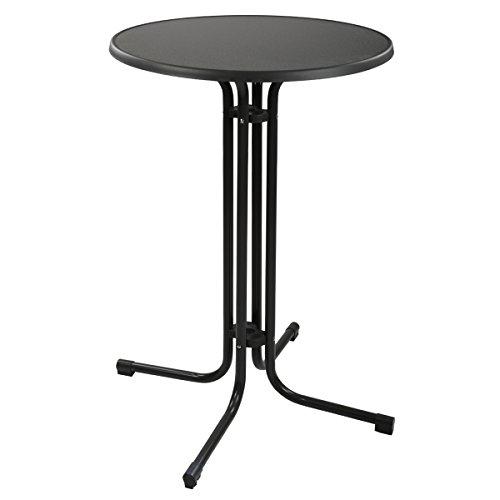 Torrex-30153-Bistrotisch-Stehtisch-klappbar-Stahl-Hhe-110--70-cm