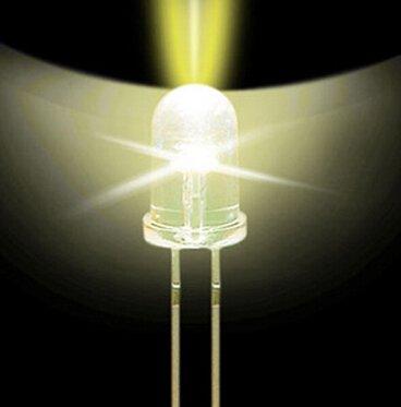 50 Pcs Led Electronics 5Mm Bulb Warm White