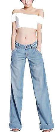Retro Wide-leg Denim Jeans