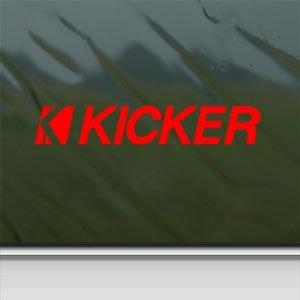 Kicker Speakers Audio Red Sticker Decal Car Window Wall Macbook Notebook Laptop Sticker Decal
