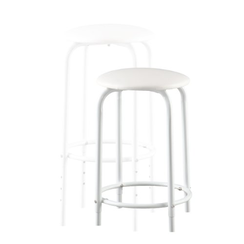 Southern Enterprises Amberson Desk/Stool Set, White