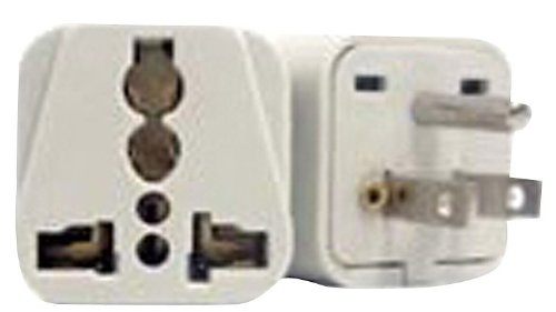 Vct Vp106 Universal Outlet Plug Adapter For Usa Converts Plugs From Foreign Countries To 3-Pin Usa