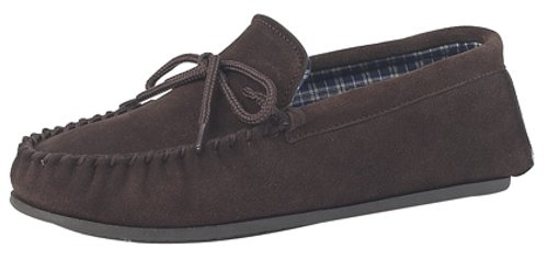Da uomo in vera pelle scamosciata a mocassino in pelle con suola rigida in PVC Taglie UK 6,7,8,9,10,11,12,13,14,15,, marrone (Brown), 47 EU