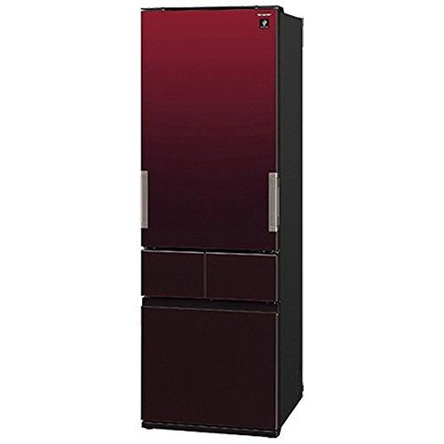 シャープ 410L 4ドア冷蔵庫(グラデーションレッド)SHARP プラズマクラスター冷蔵庫 どっちでもドア SJ-GT41B-R