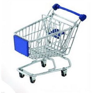 Minya International Corp. Mini Shopping Cart - Blue