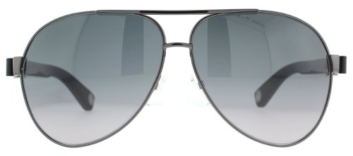 Marc Jacobs Marc Jacobs MJ445/S Sunglasses-0CVL Ruthenium Black (HD Gray Grad Lens)-63mm