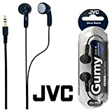 JVC Gumy Cool & Comfortable Headphones Olive Black HA-F130-B