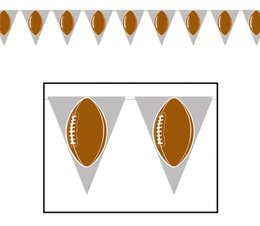 Football Pennant Banner by Beistle