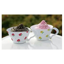 Floral Teacup Cupcake Wrapppers