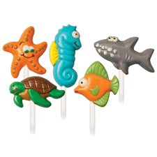Candy Mold-Sea Creatures 5 Cavities 5 Designs EACH