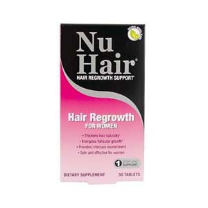 NuHair Hair Regrowth Tablets, for Women, 50-Count Package
