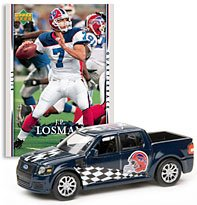 Buffalo Bills - JP Losman (Blue Car) 2007 Upper Deck Collectibles NFL Ford SVT Adrenalin Concept with Card