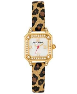 Betsey Johnson Women'S Leopard Print Leather Strap