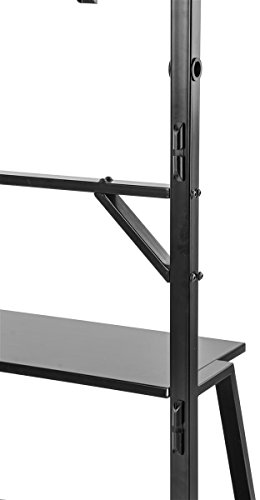 displays2go tvsvm38c3 flat panel tv stand with mount for 37 inch to 71 inch monitors black. Black Bedroom Furniture Sets. Home Design Ideas