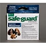 3 PACK SAFEGUARD DOG WORMER, Size: 2 GRAM (Catalog Category: Dog:HEALTH CARE)