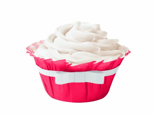 Wilton 415-0532 Ruffled Baking Cup, Red/White,12-Count (Ruffled Baking Cups compare prices)