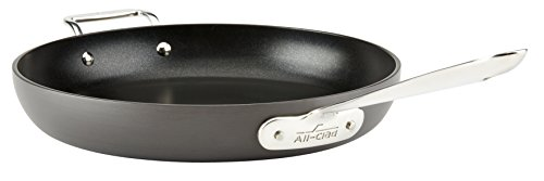 All-Clad E7859664 HA1 Hard Anodized Nonstick Dishwasher Safe PFOA Free Fry Pan with lid / Cookware, 12-Inch, Medium Grey