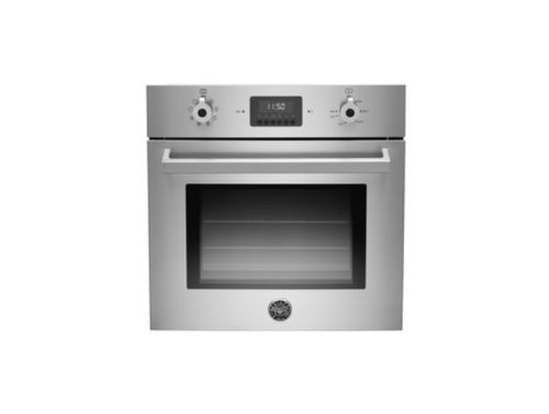 """24"""" Width Ergonomic Metal Knobs Exclusive Metal Handle Electric European Convection 7 Cooking Functions LED Touch Interface Trip"""