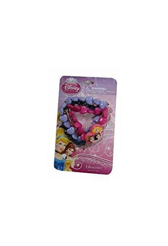 Disney Princess Baby Girls Dress Up Bead Bracelet Set - 4 Pack