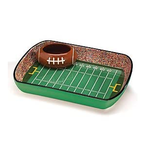 Football Stadium Chip And Dip Serving Set Great For Parties and Kitchen Decor