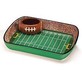 Burton and Burton Ceramic Football Stadium Chip and Dip Serving Set