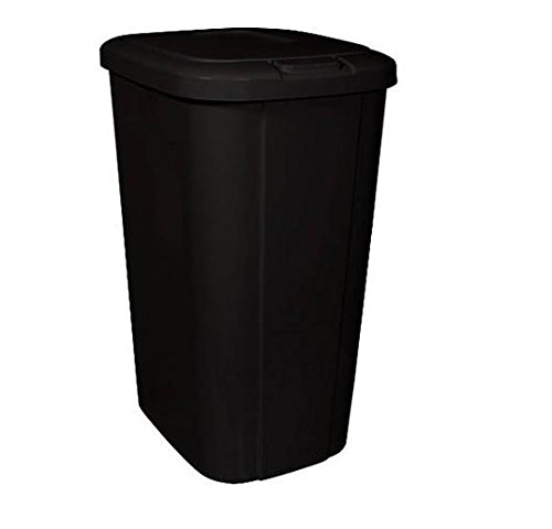 Hefty touch lid 13 3 gallon trash can black cleaning Large kitchen trash can with lid