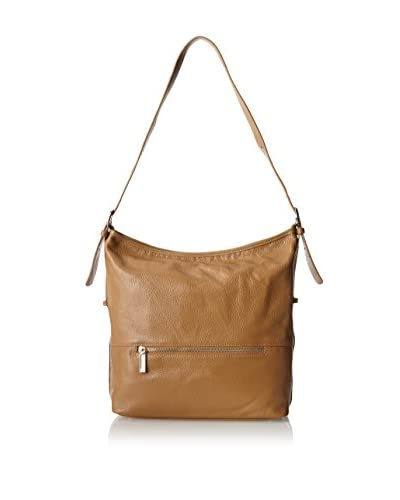 Zenith Women's Leather Hobo, Taupe