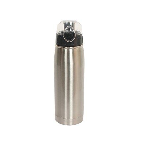 Fanko®Stainless Steel 25-Ounce Vacuum Bottle Sports Bottle,Car Bottle& Travel Bottle&Coffee Bottle (Silver)