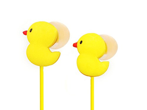Ankit Toons Ergonomic Noise Isolating Earphones - Happy Go Lucky Duck
