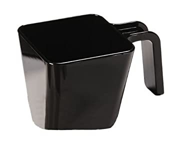 "Carlisle 49122-103 Portion Cup, 20 oz. Capacity, Black, 3.38"" Height (Case of 6)"