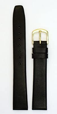 Men's Leather Watchband Black 18mm Watch Band by JP Leatherworks