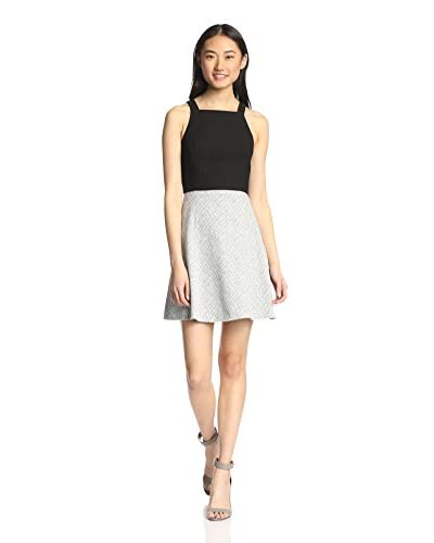 4.collective Women's Diamond Crosshatch Dress