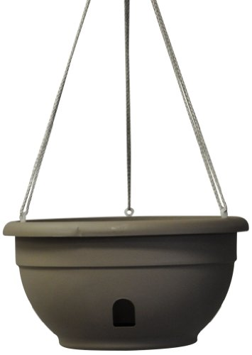 Eezy Gro Self Watering Hanging Planter 12 Inch Driftwood