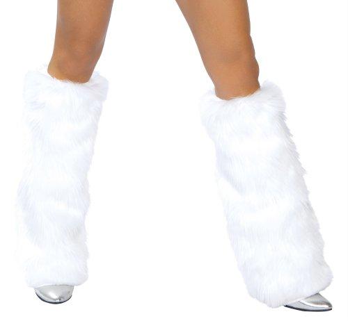 J. Valentine Women's White Basic Leg Warmer, White, One Size